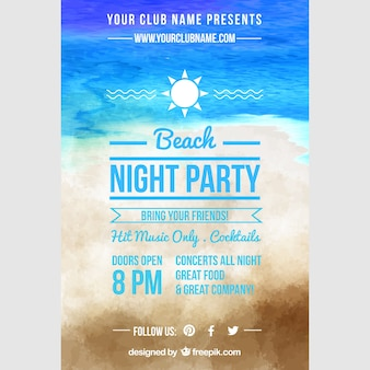 Pinterest graphic, night party