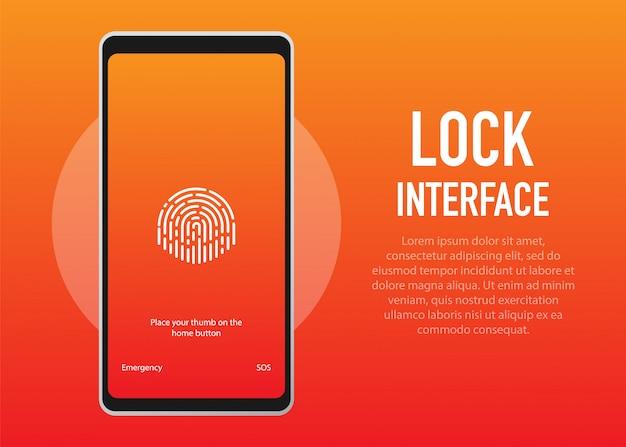Блокировка экрана. pinterface для экрана блокировки или ввода страниц пароля.