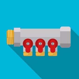 파이프 수집기 플랫 아이콘 ilustration 절연 벡터 기호