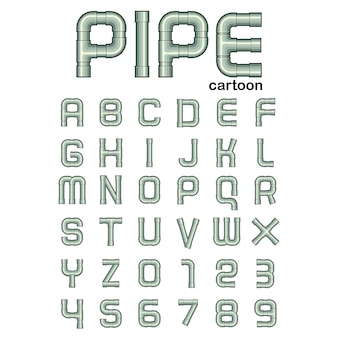 Pipe font cartoon style