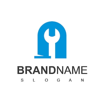 Pipe logo, plumbing and oil industry company symbol