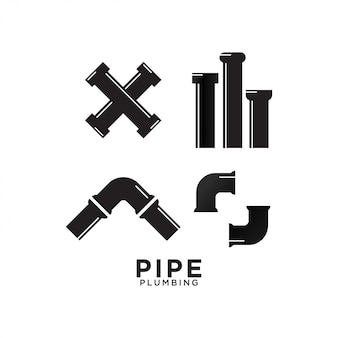 Pipe plumbing graphic design template