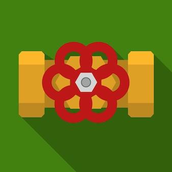 파이프 펌프 밸브 플랫 아이콘 ilustration 절연 벡터 기호