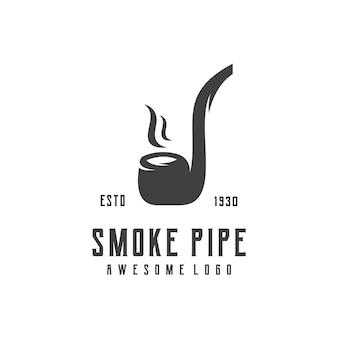 Трубка дыма ретро логотип иллюстрации