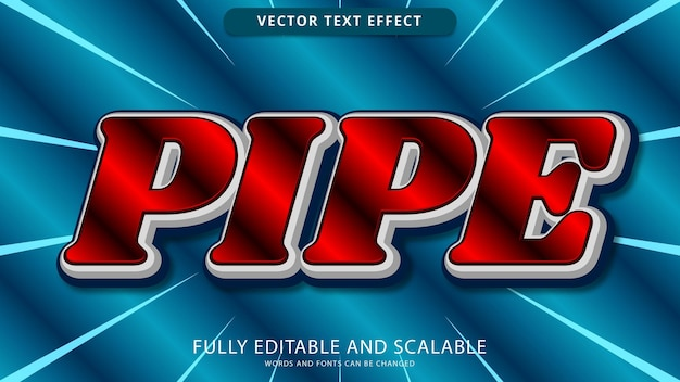 Pipe text effect editable eps file