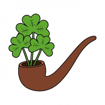 Pipe with clovers