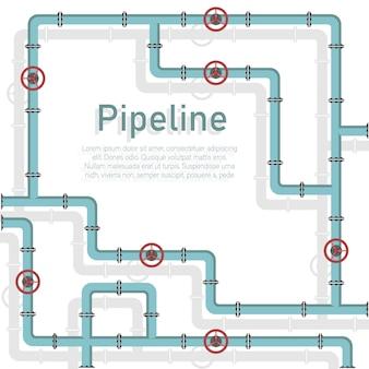 Pipeline, valve, pipe connectors, meters, pipe details.