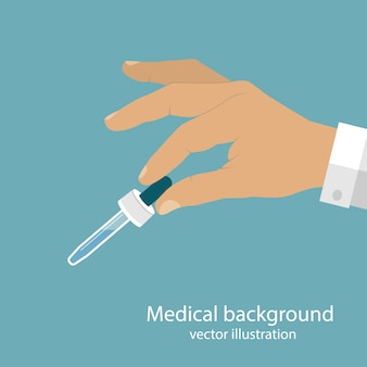 Pipette in doctor hand