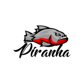 Piranha logo template