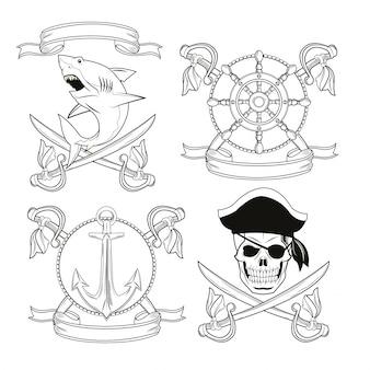 Пиратские и морские значки