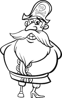 Страница раскраски пиратского капитана