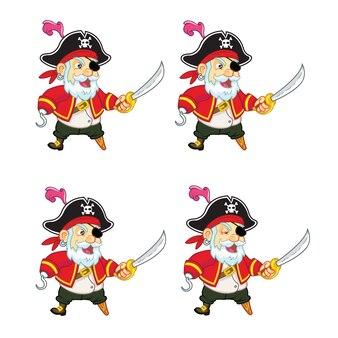 Пиратская мультяшная игра анимация sprite