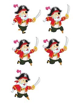 海賊漫画ゲームアニメーションスプライト