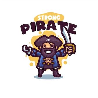 あなたの会社の海賊漫画のロゴ