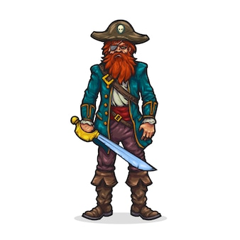 Pirate in cartoon style