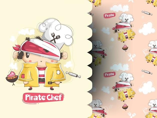 Пират ест стейк