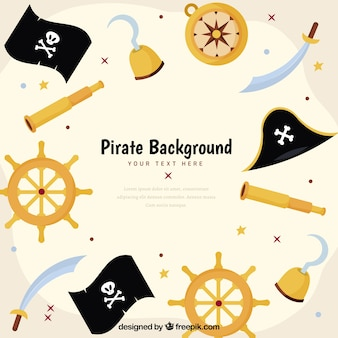 Фон пиратских элементов