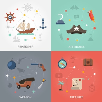 Pirate flat set
