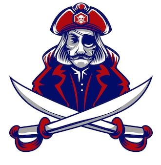 Pirate head mascot logo