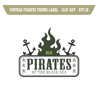 Pirate icon art