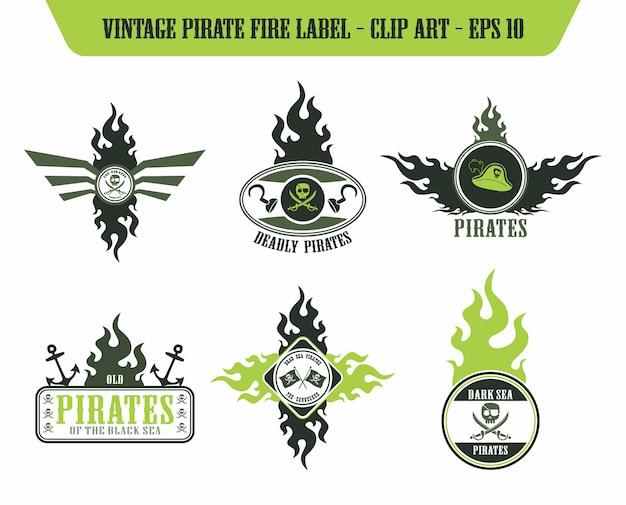 Pirate icon label sticker