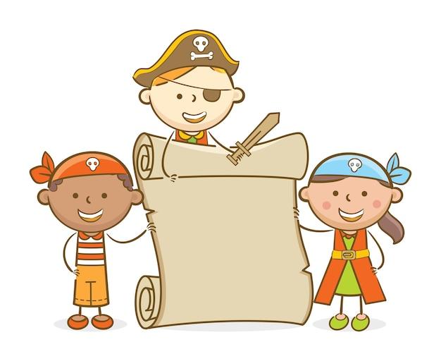 Свиток для пиратских детей