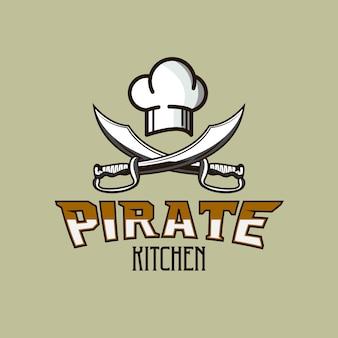 Pirate kitchen restaurant logo
