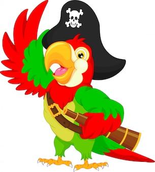 Pirate parrot cartoon