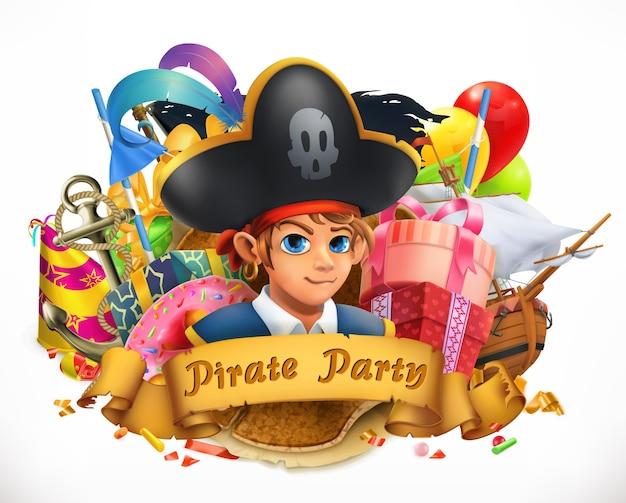 Фон пиратской вечеринки