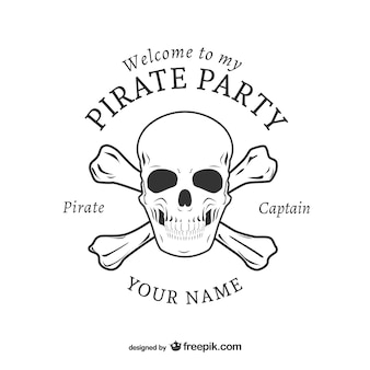 Pirate party logo design