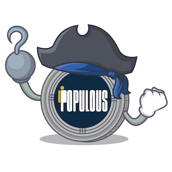 Pirate populous coin character cartoon