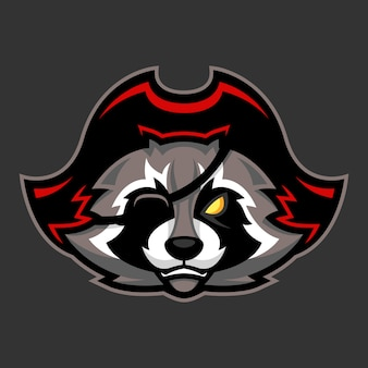 Pirate raccoon mascot
