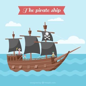 해적 범선 배경