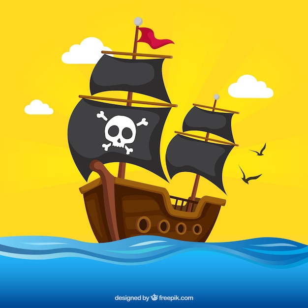 pirate ship vectors photos and psd files free download rh freepik com pirate ship vector art pirate ship vectorial