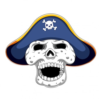 Пиратский череп и треуголка