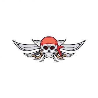 Pirate skull design