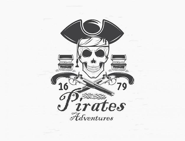 Pirate skull logo.