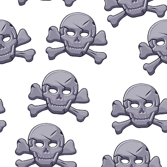 Пиратский череп бесшовные модели, камень черный знак.