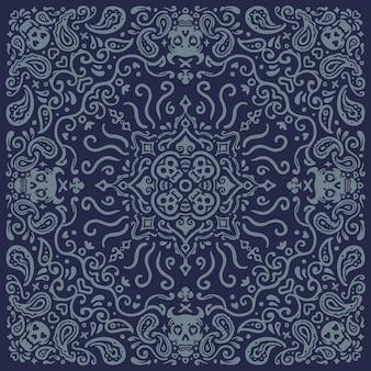 Pirate skull vintage pattern bandana