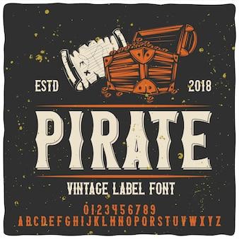 Carattere tipografico pirata