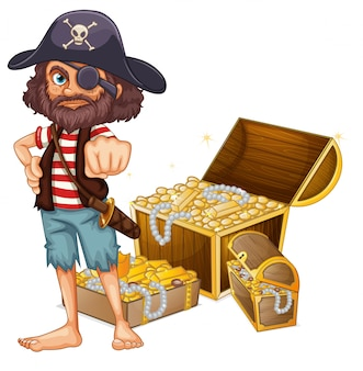 A pirate with treasure