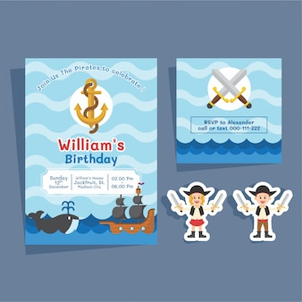 Pirates birthday invitation