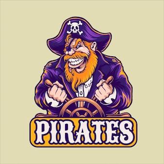 Pirates cartoon character