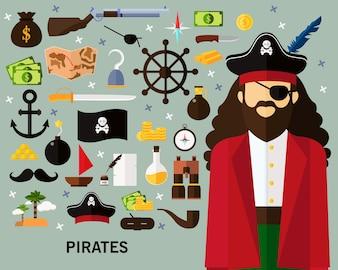 Pirates concept background