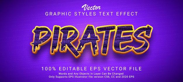 海賊は編集可能なテキスト効果を呪う
