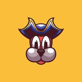 Пиратская собака дизайн иллюстрации