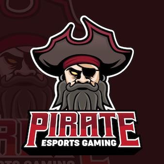Pirates mascot gaming 로고