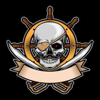 Pirates skull  logo ornament
