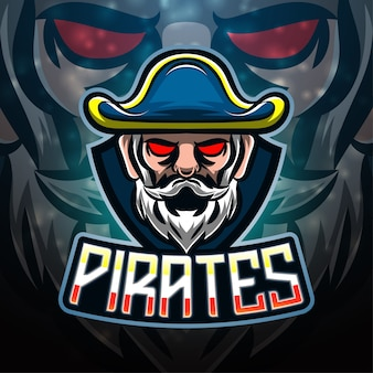 Pirates sport mascot logo design