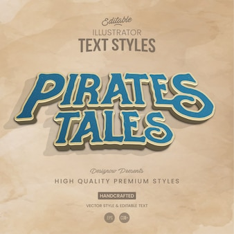 Pirates tales text style